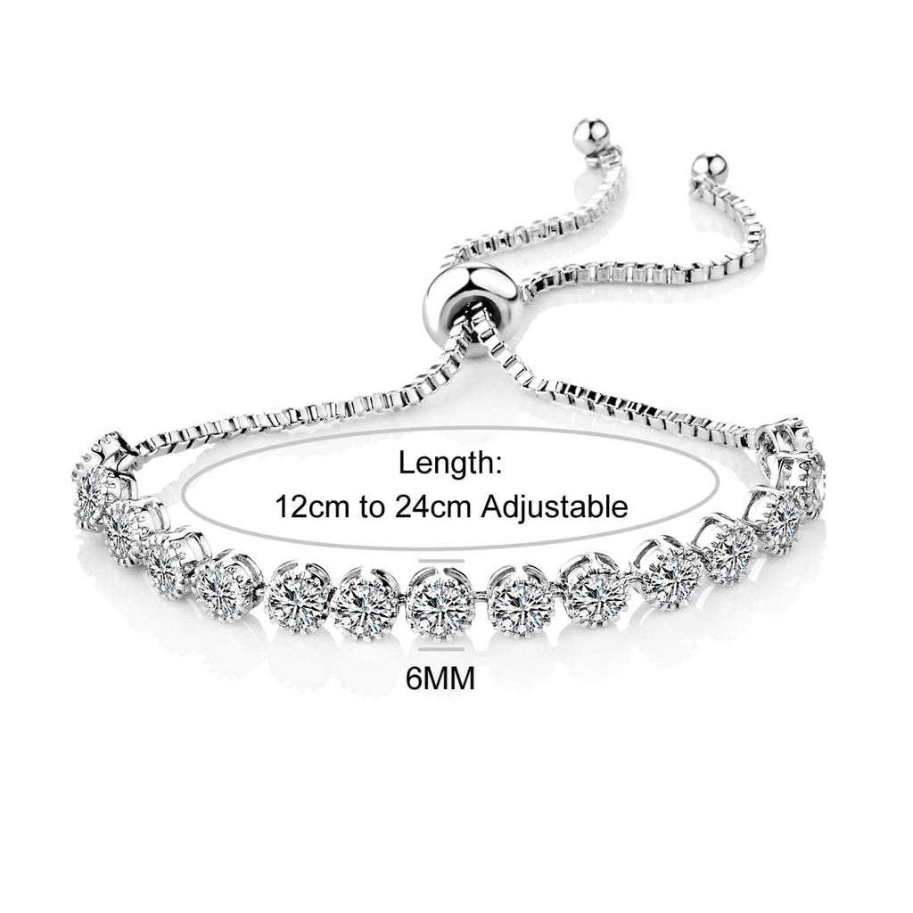 Solitaire Crystal Friendship Bracelet