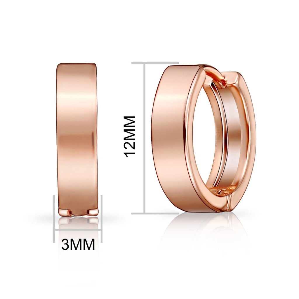 Rose Gold Huggie Earrings