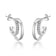 Silver Open Double Hoop Earrings Created With Swarovski® Crystals