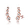 Rose Gold Four Stone Climber Earrings Created With Swarovski® Crystals