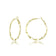 Gold 30mm Crimped Hoop Earrings