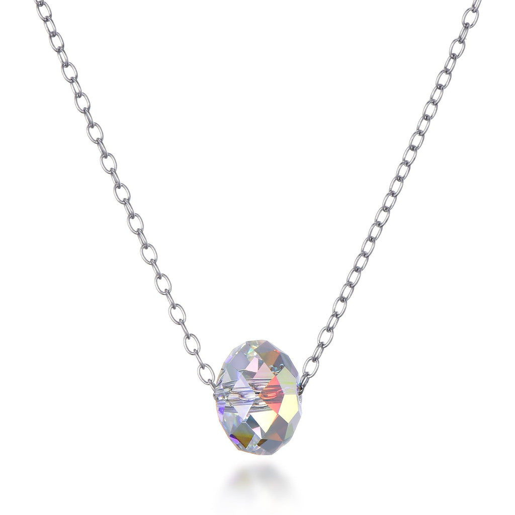 Sterling Silver Aurora Sphere Necklace Created with Swarovski Crystals