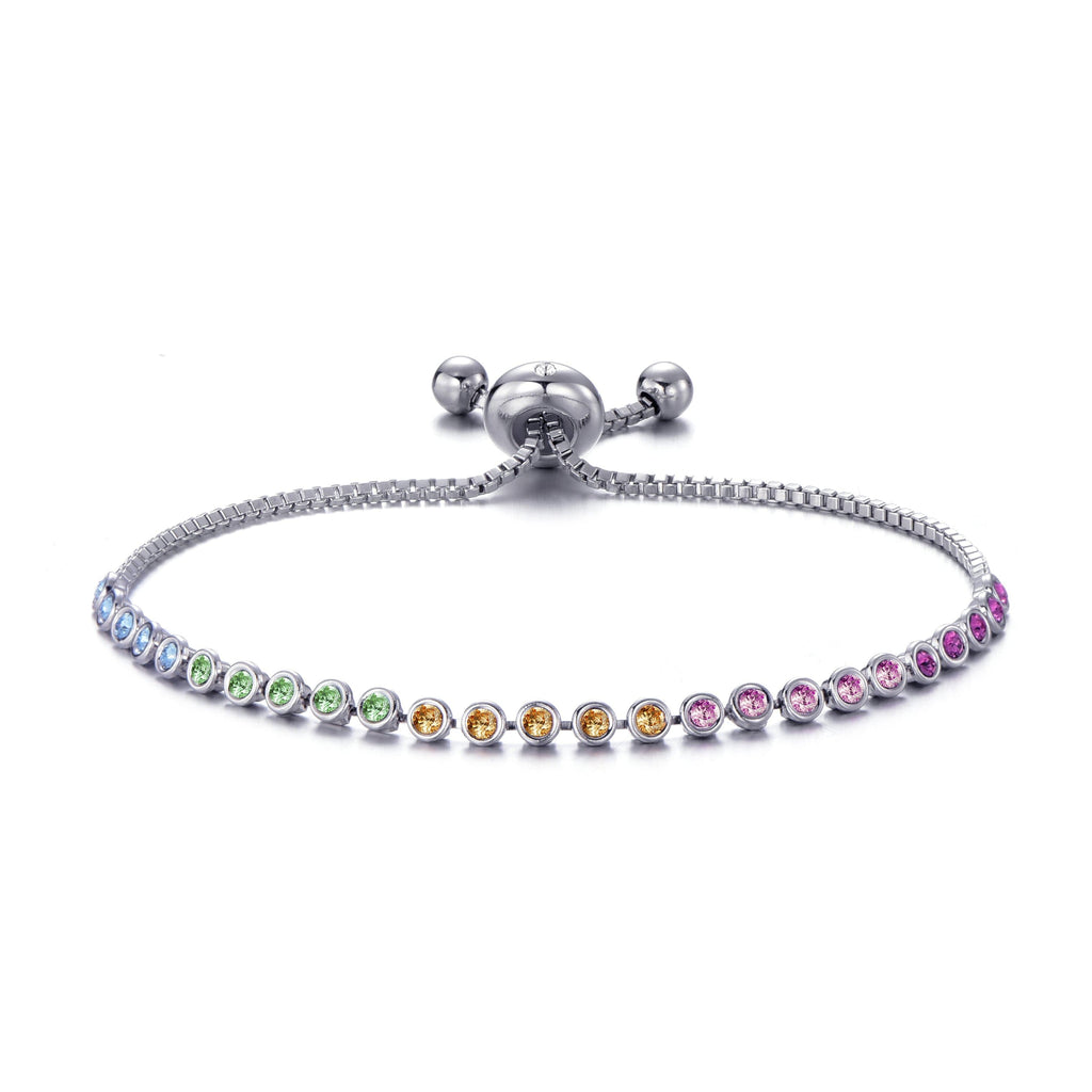 Rainbow Friendship Bracelet with Swarovski Crystals