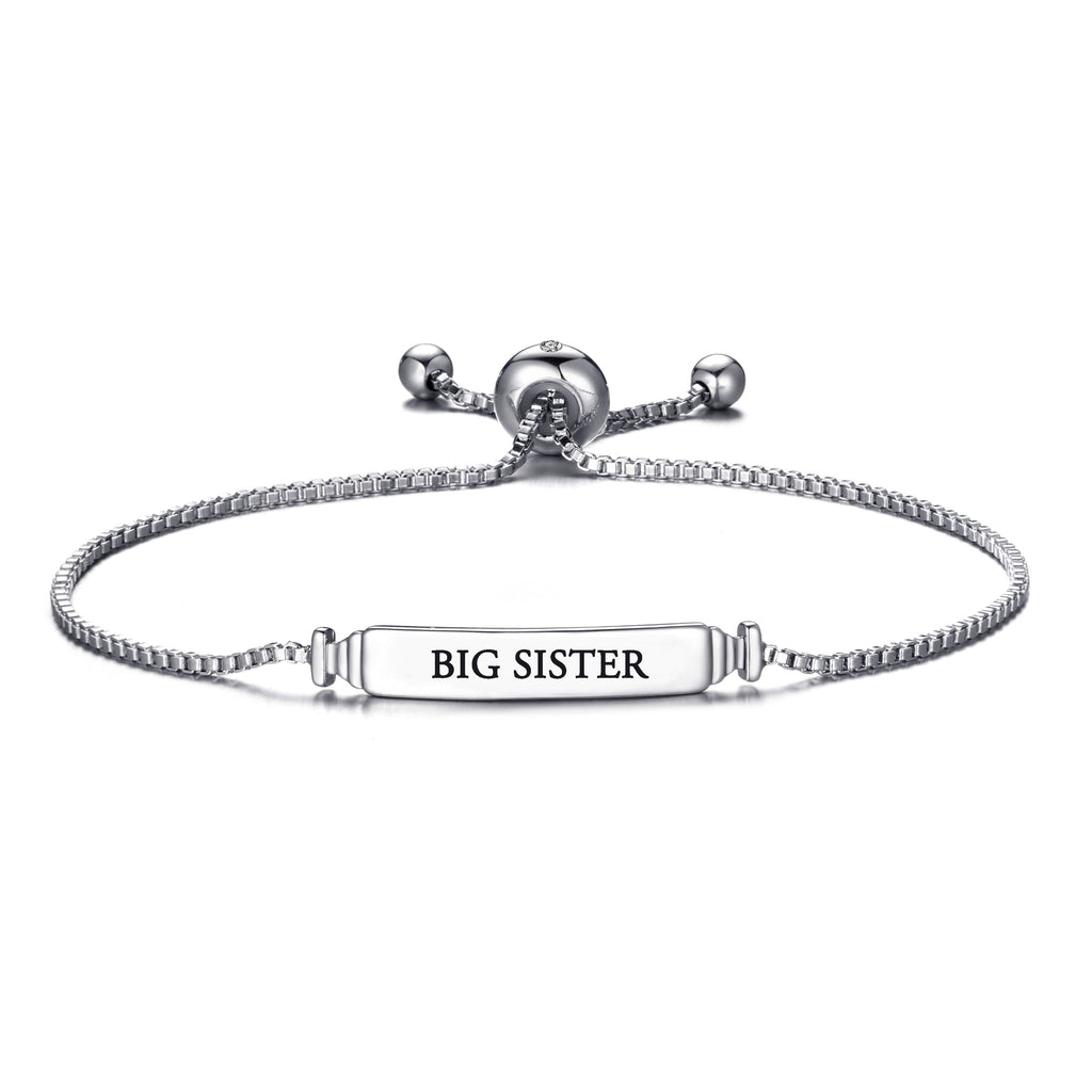 Big Sister ID Friendship Bracelet with Quote Card Created with Swarovski® Crystals