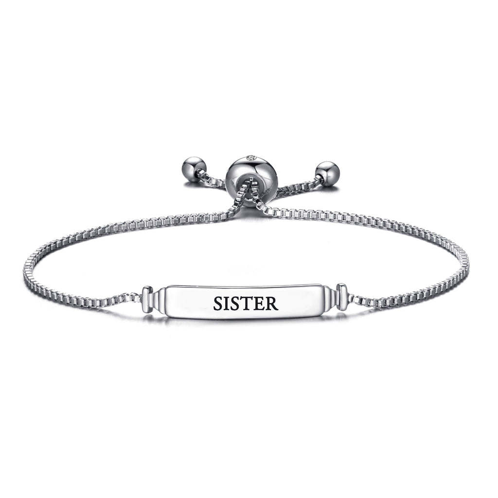Sister ID Friendship Bracelet with Quote Card Created with Swarovski® Crystals