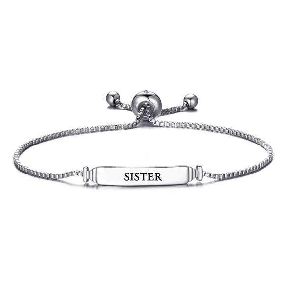 Sister ID Friendship Bracelet Created with Swarovski® Crystals