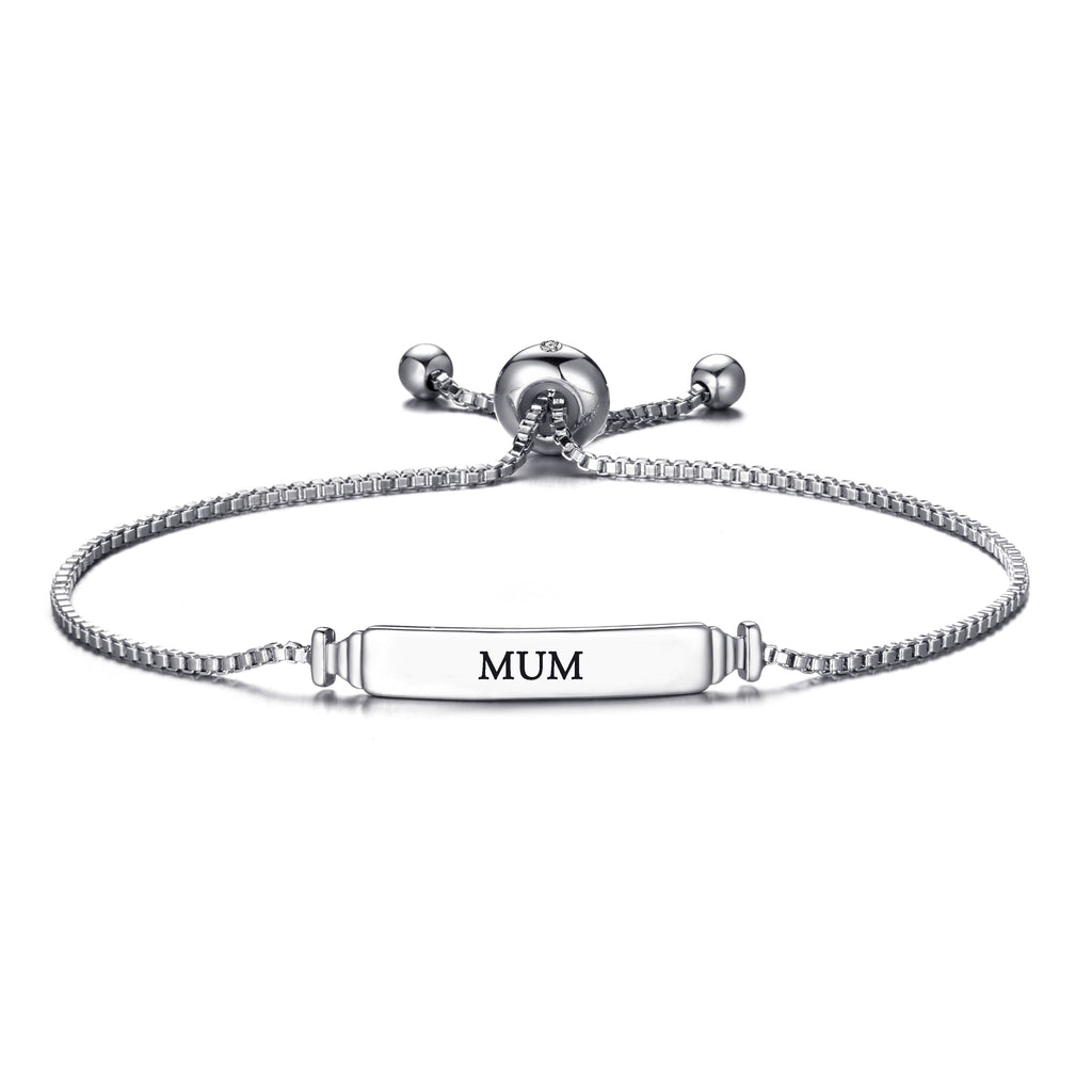 Mum ID Friendship Bracelet with Quote Card Created with Swarovski® Crystals