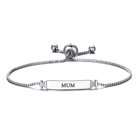 Mum ID Friendship Bracelet Created with Swarovski® Crystals