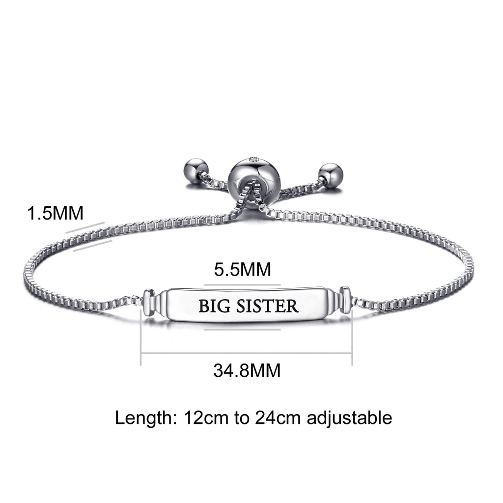 Big Sister ID Friendship Bracelet Created with Swarovski® Crystals