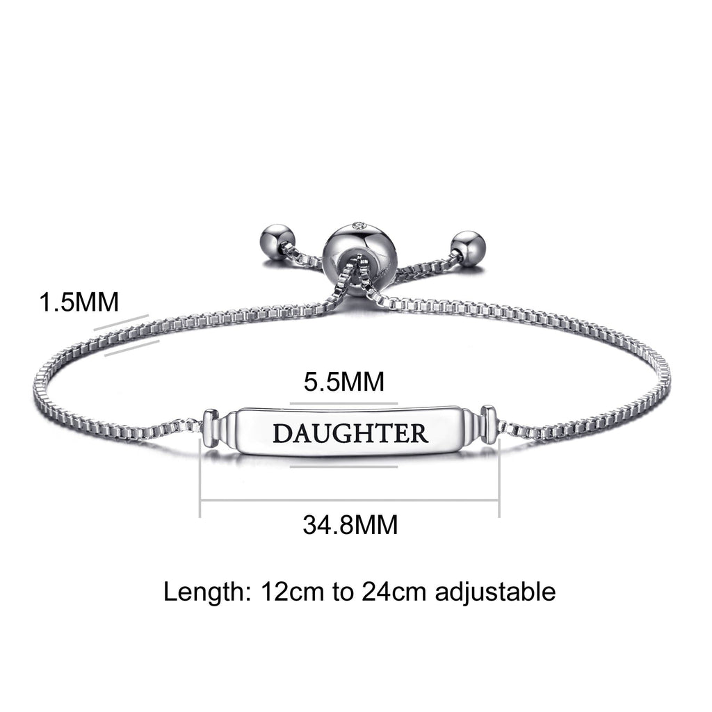 Daughter ID Friendship Bracelet Created with Swarovski® Crystals