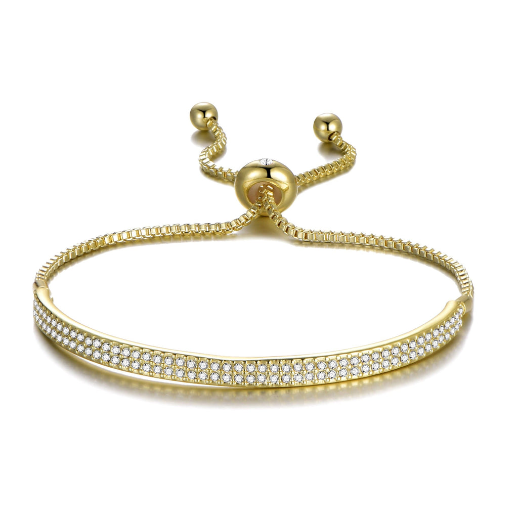 Gold Friendship Cuff Bracelet Created with Swarovski® Crystals