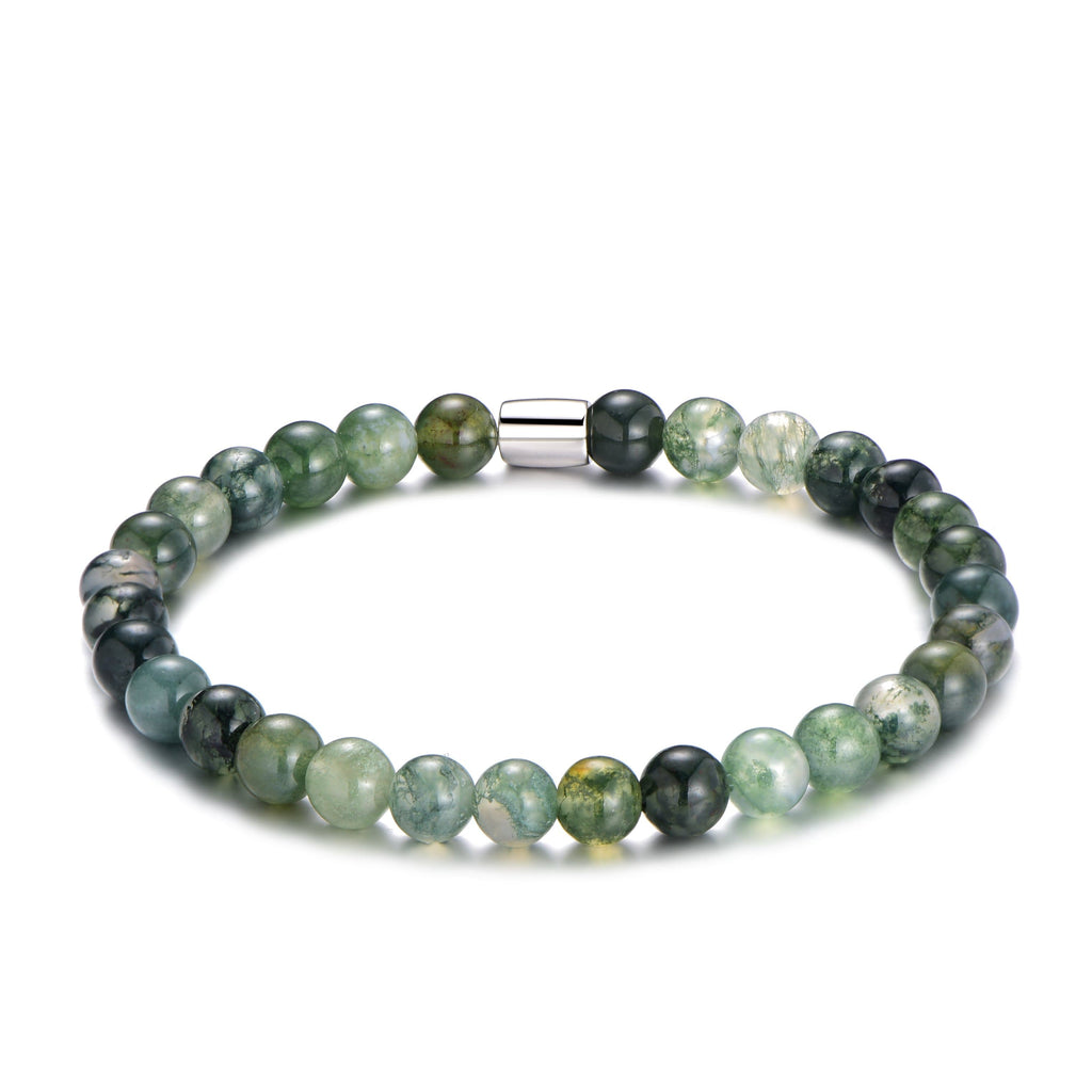 Men's Aquatic Agate Bracelet