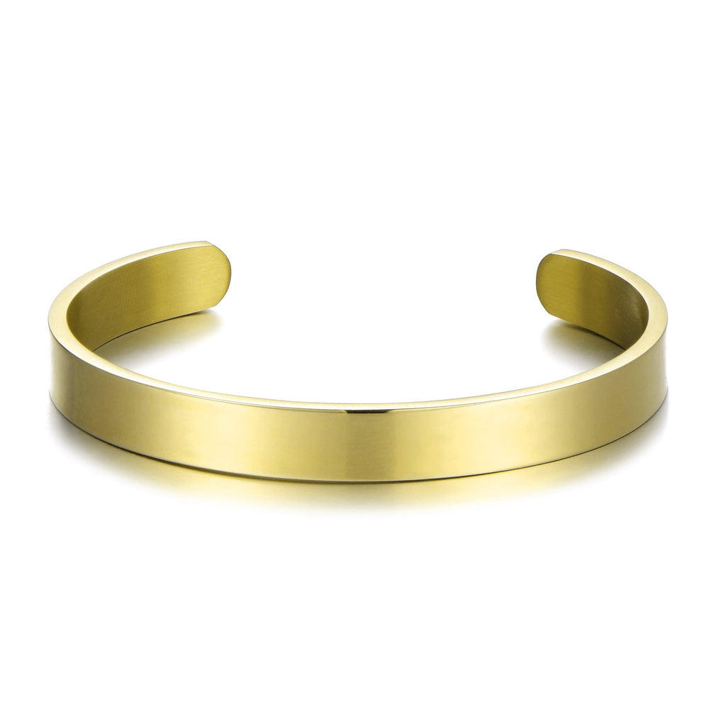 Men's Gold Steel Cuff Bracelet