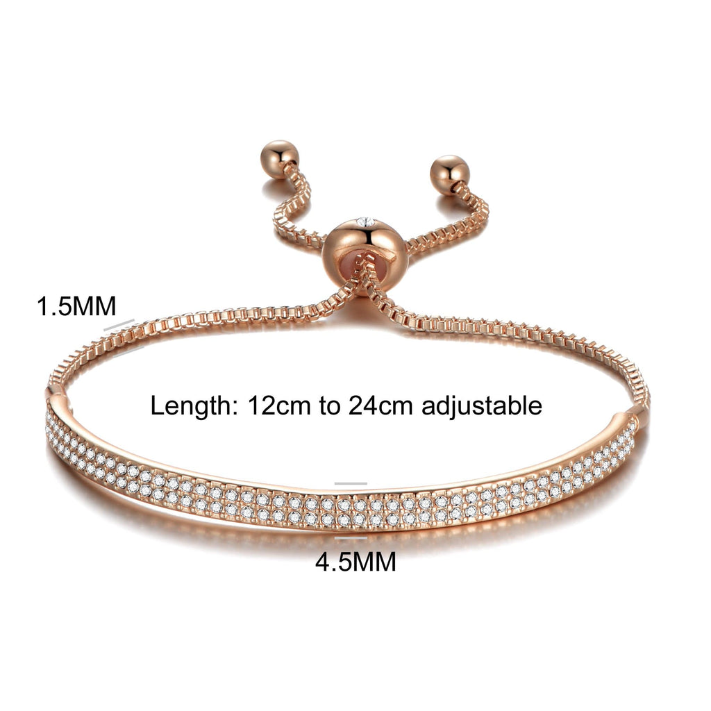 Rose Gold Friendship Cuff Bracelet Created with Swarovski® Crystals