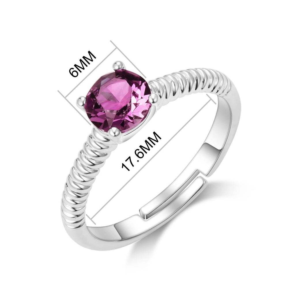 June (Alexandrite) Birthstone Ring Created with Swarovski® Crystals