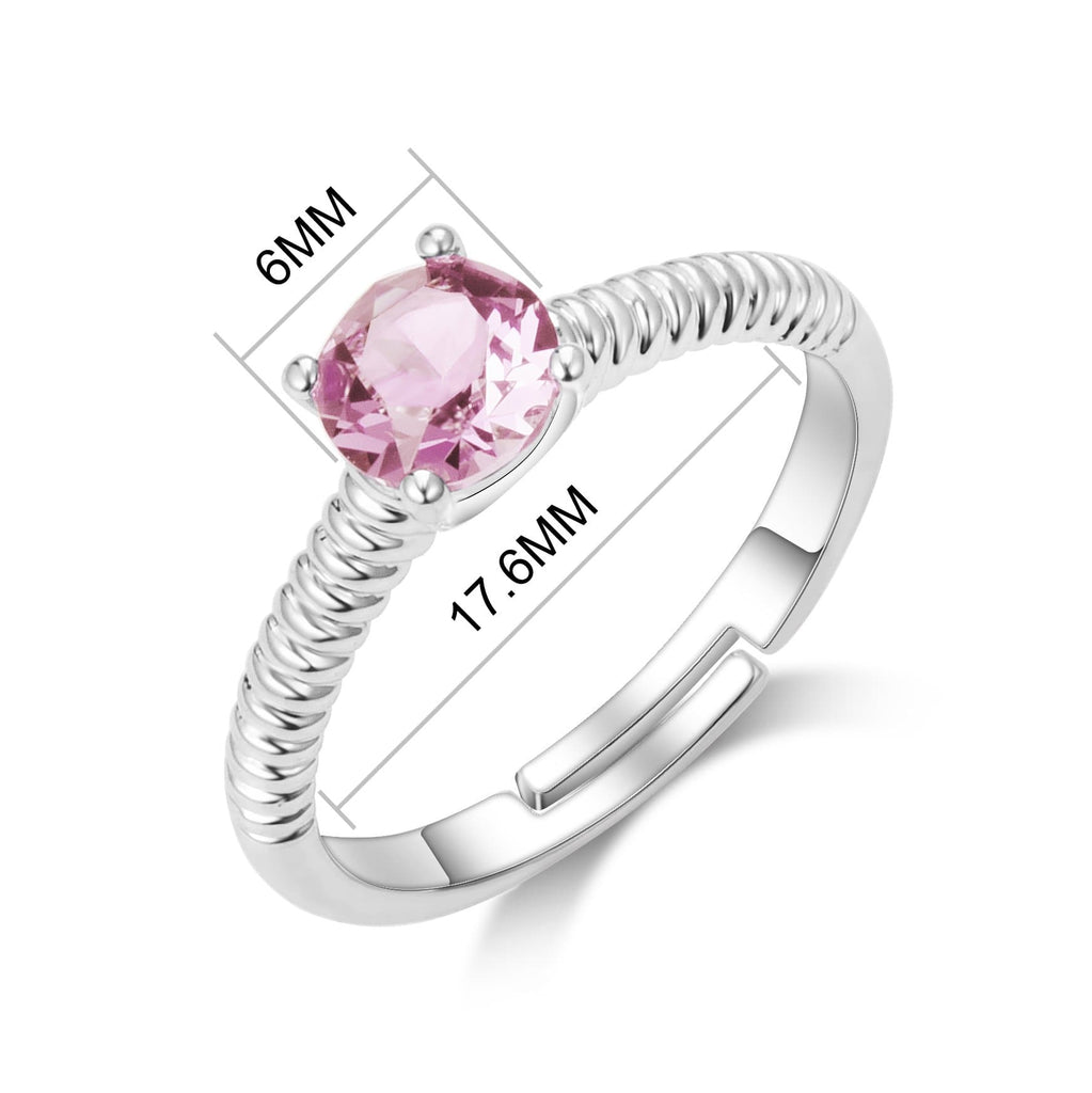 October (Tourmaline) Birthstone Ring Created with Swarovski® Crystals
