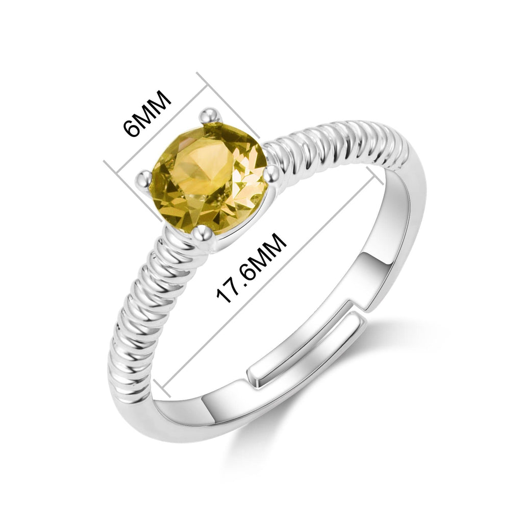 November (Topaz) Birthstone Ring Created with Swarovski® Crystals