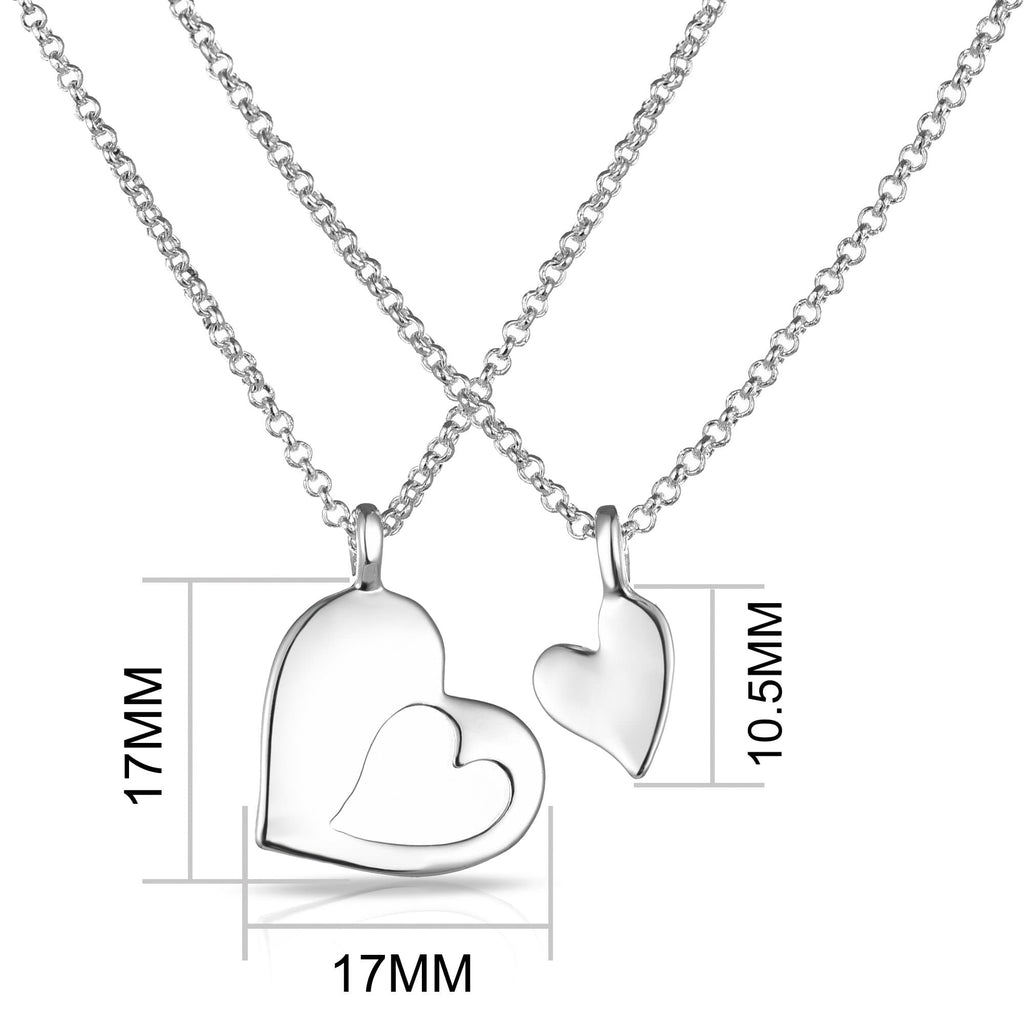 Big Sister Little Sister Piece of My Heart Necklace Set