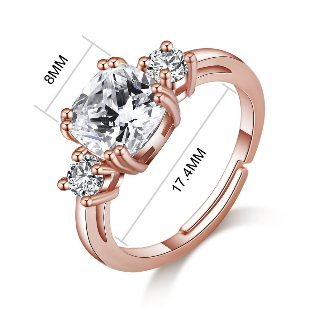 Rose Gold Meghan Replica Ring Created with Swarovski® Crystals