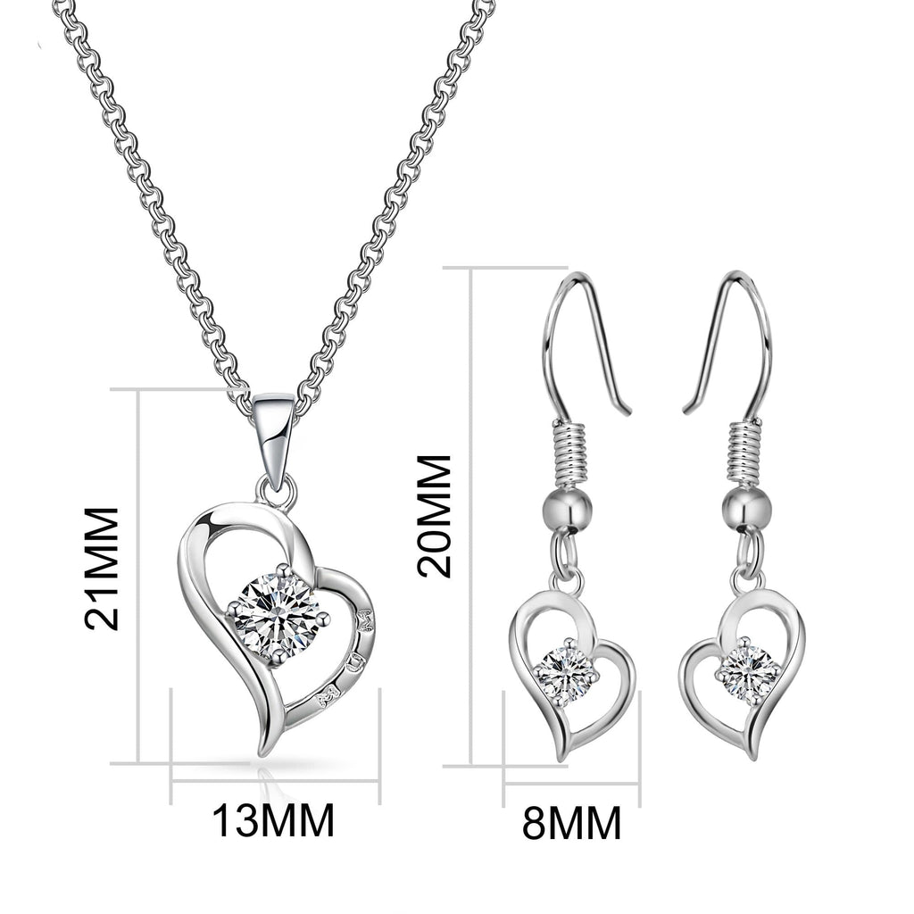"Heart ""Mum"" Necklace and Earrings Set Created with Swarovski® Crystals"