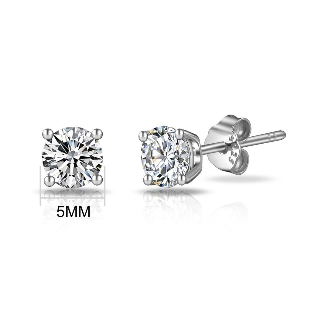 Sterling Silver World's Greatest Mum Crystal Earrings