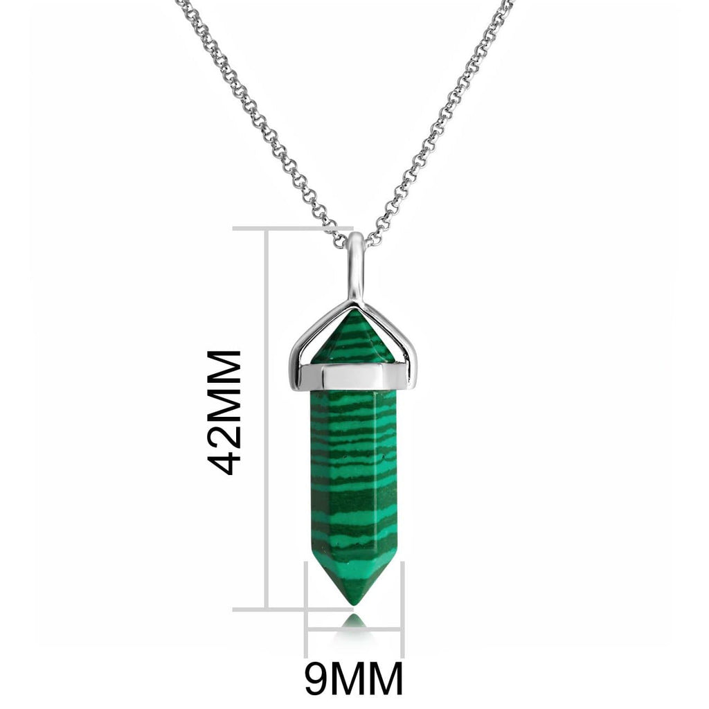 Malachite Genuine Gemstone Necklace