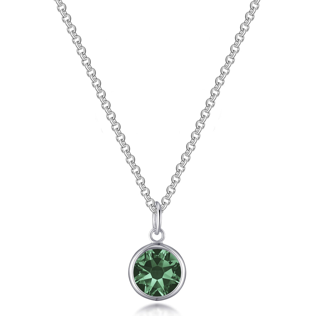 Green Crystal Necklace Created with Swarovski® Crystals