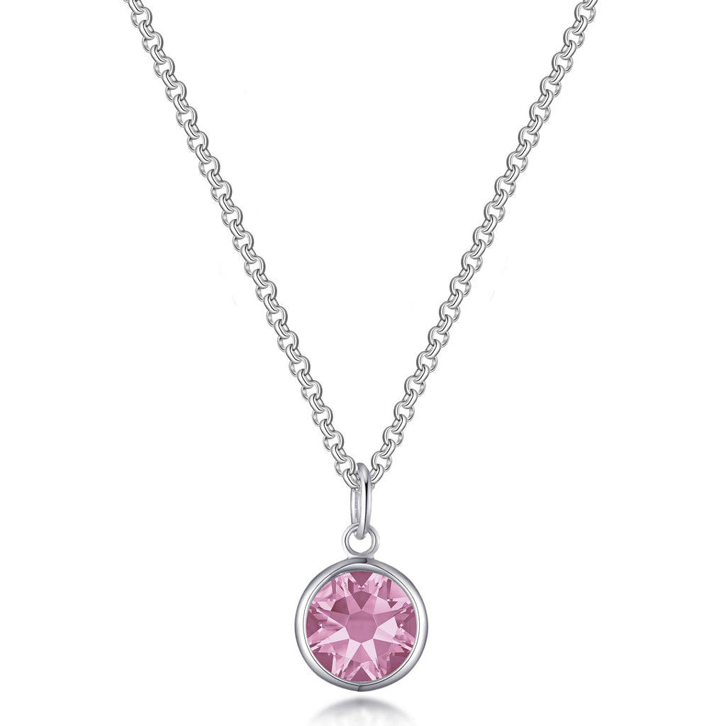 October (Tourmaline) Birthstone Necklace Created with Swarovski® Crystals