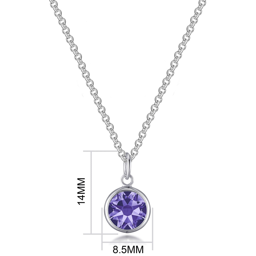 February (Amethyst) Birthstone Necklace Created with Swarovski® Crystals