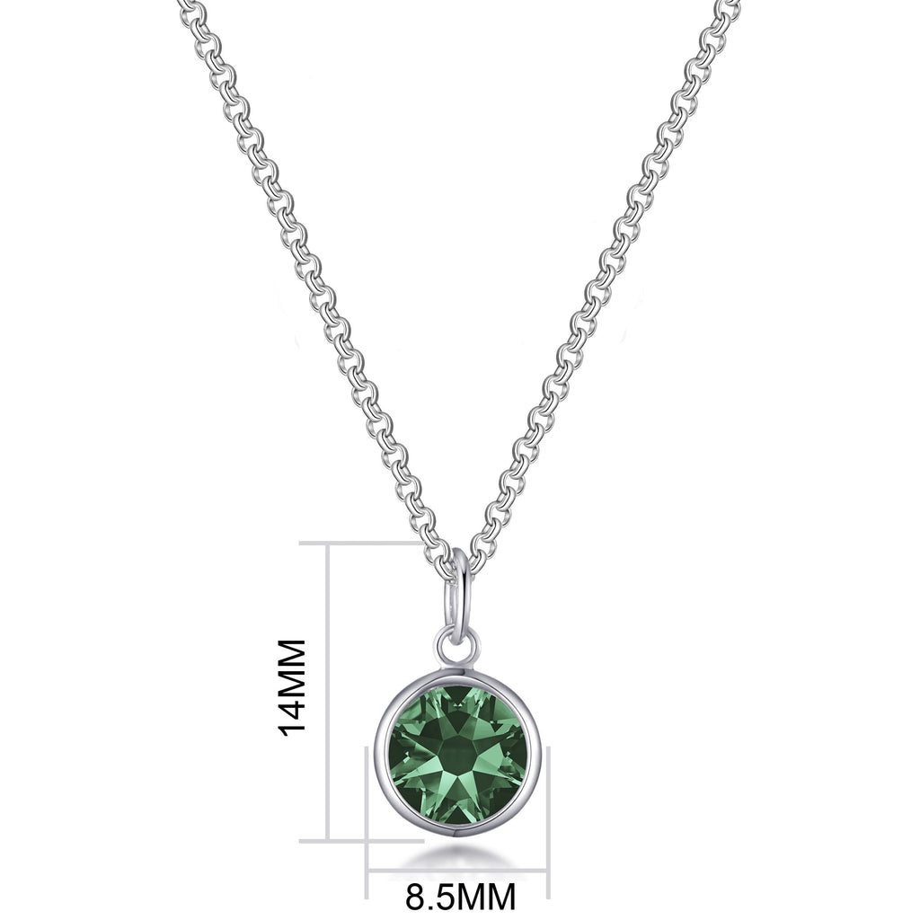 May (Emerald) Birthstone Necklace Created with Swarovski® Crystals
