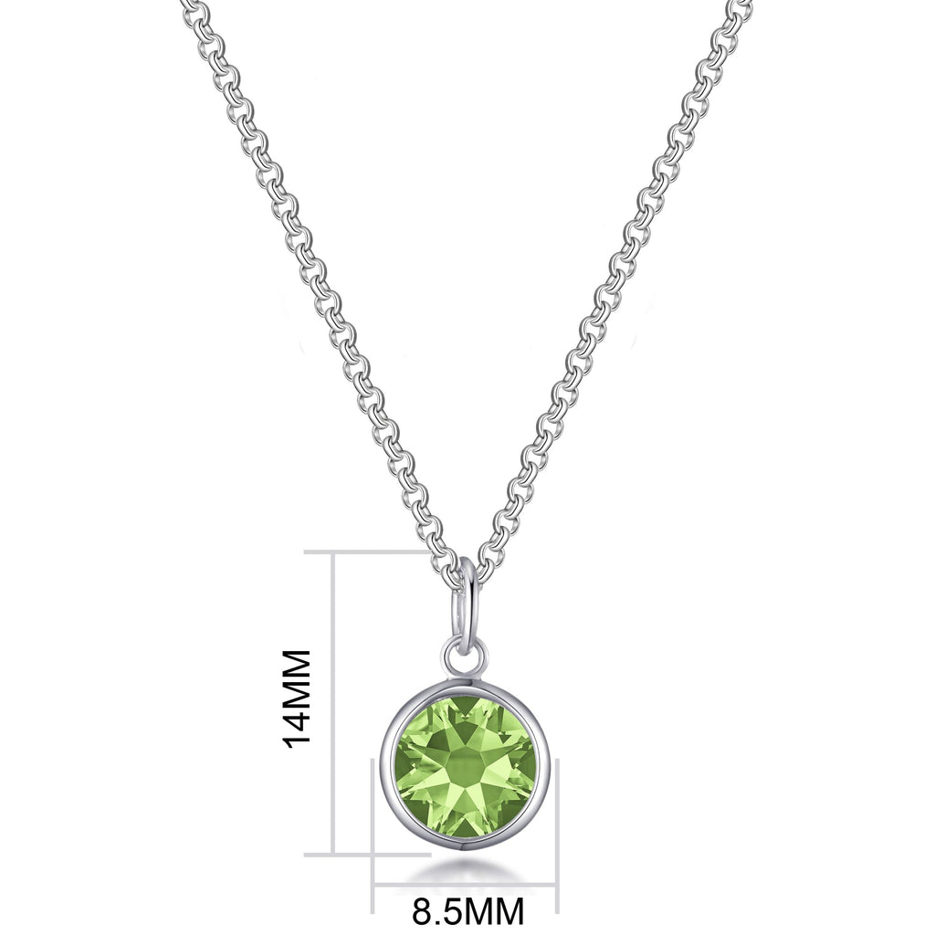 August (Peridot) Birthstone Necklace Created with Swarovski® Crystals