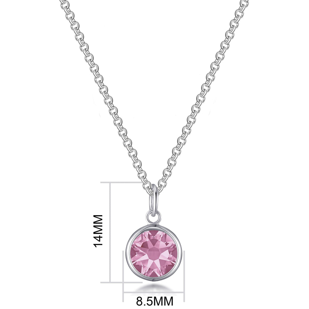 Pink Crystal Necklace Created with Swarovski® Crystals