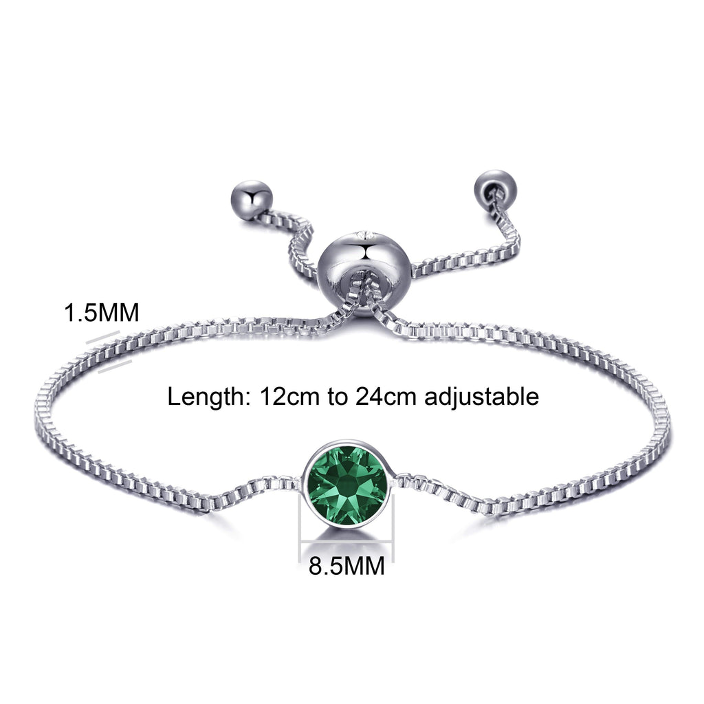 May (Emerald) Birthstone Bracelet Created with Swarovski® Crystals