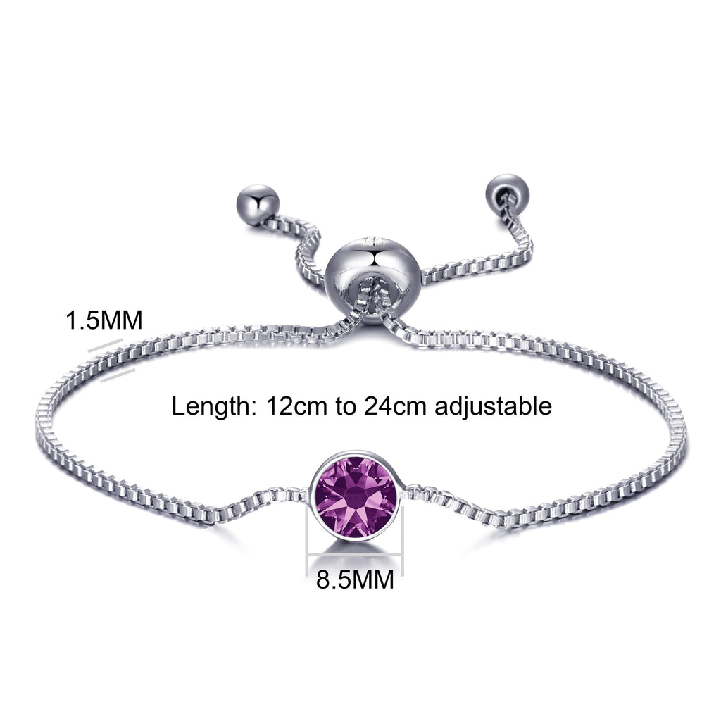 June (Alexandrite) Birthstone Bracelet Created with Swarovski® Crystals