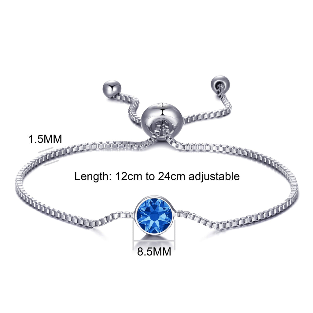 September (Sapphire) Birthstone Bracelet Created with Swarovski® Crystals