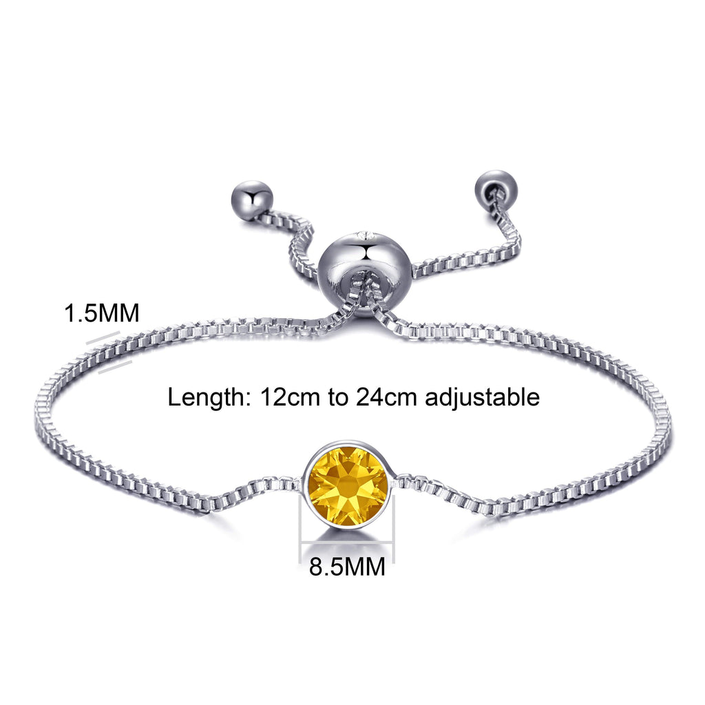 November (Topaz) Birthstone Bracelet Created with Swarovski® Crystals