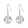 Silver Chakra Tree of Life Drop Earrings Created with Crystals from Swarovski®