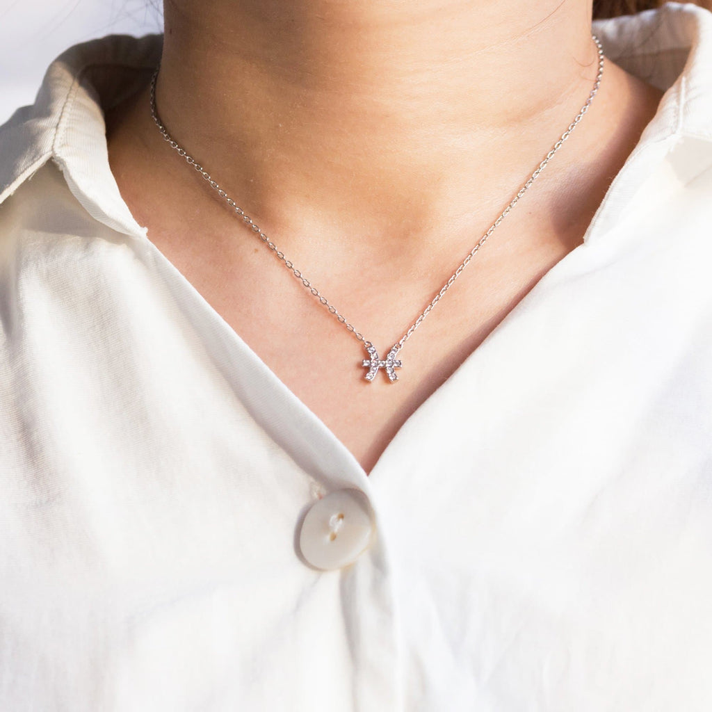 Pisces Zodiac Necklace Created with Swarovski® Crystals