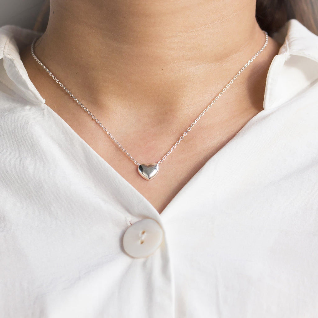 Sterling Silver Bottom of my Heart Necklace