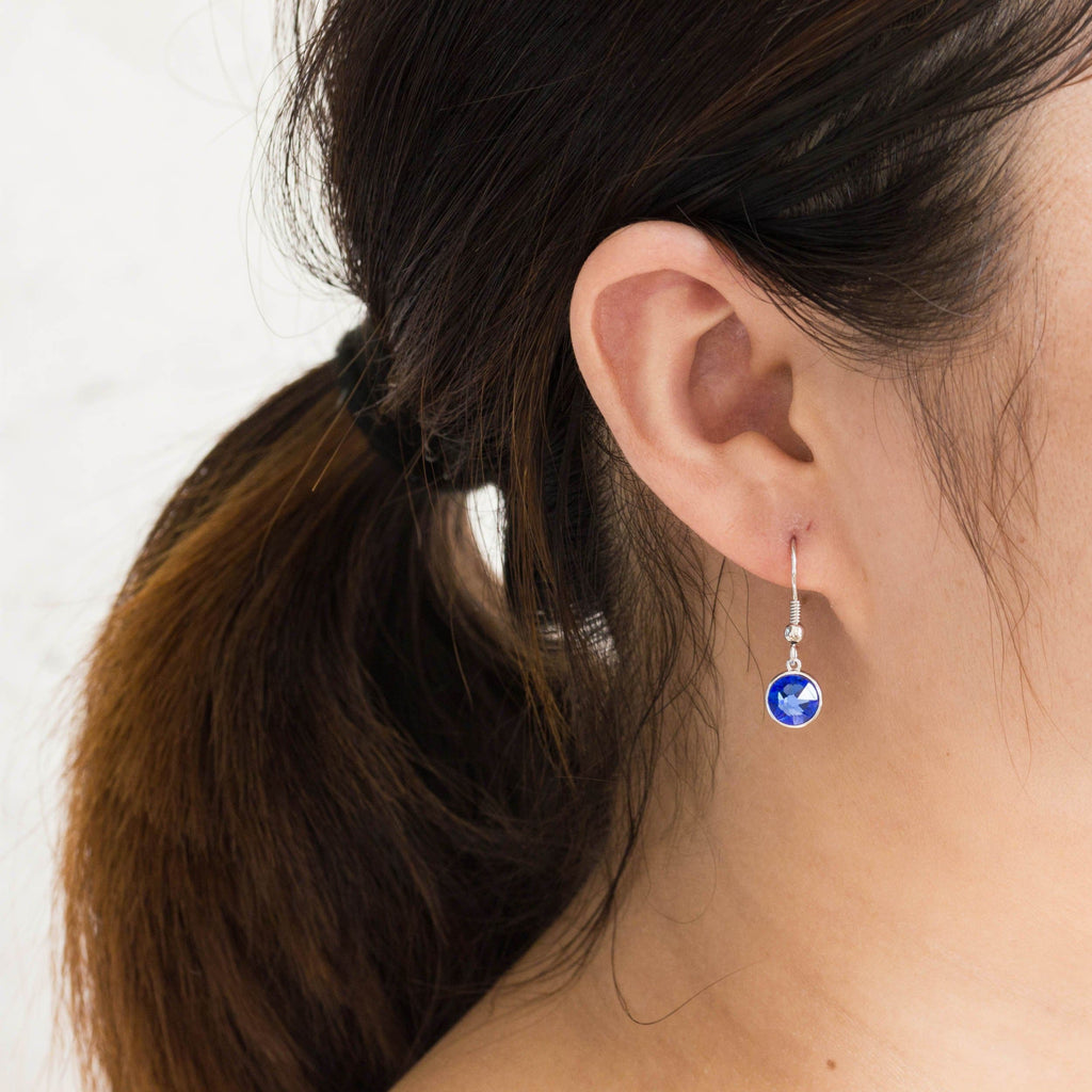 September (Sapphire) Birthstone Necklace & Drop Earrings Set Created with Swarovski® Crystals