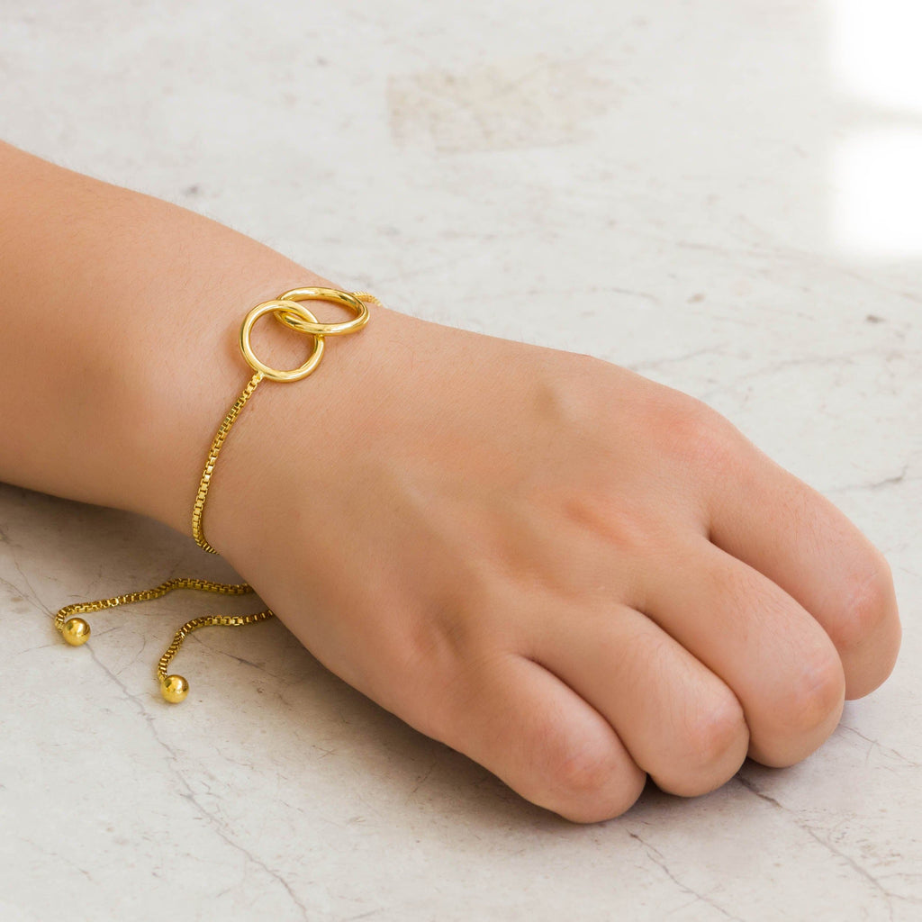 Gold Link Friendship Bracelet Created with Swarovski® Crystals
