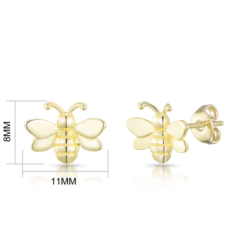 Gold Bumble Bee Earrings