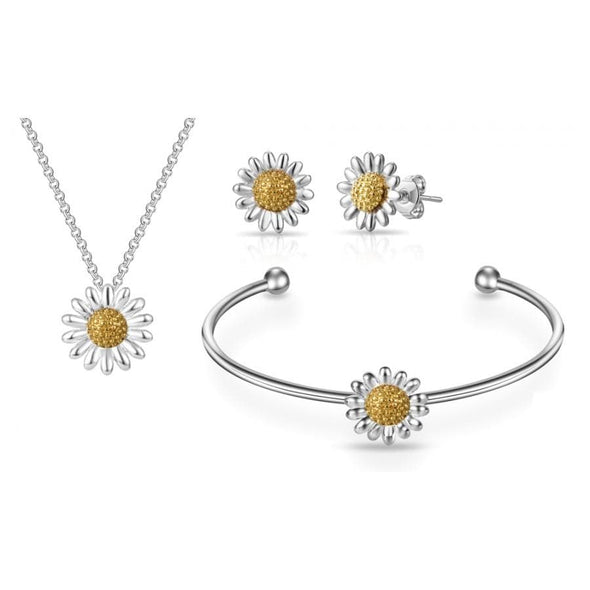 3pc Daisy Cuff Bangle Set
