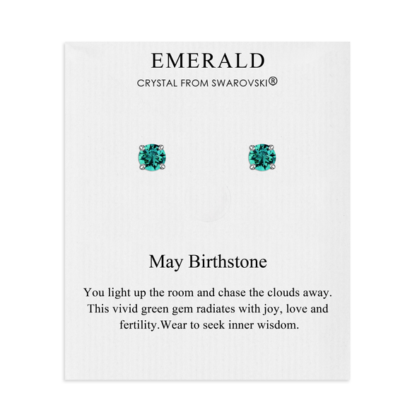 May (Emerald) Birthstone Earrings Created with Swarovski® Crystals