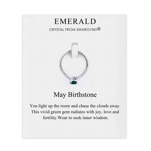 May (Emerald) Birthstone Ring Created with Swarovski® Crystals
