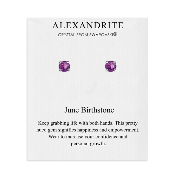 June (Alexandrite) Birthstone Earrings Created with Swarovski® Crystals