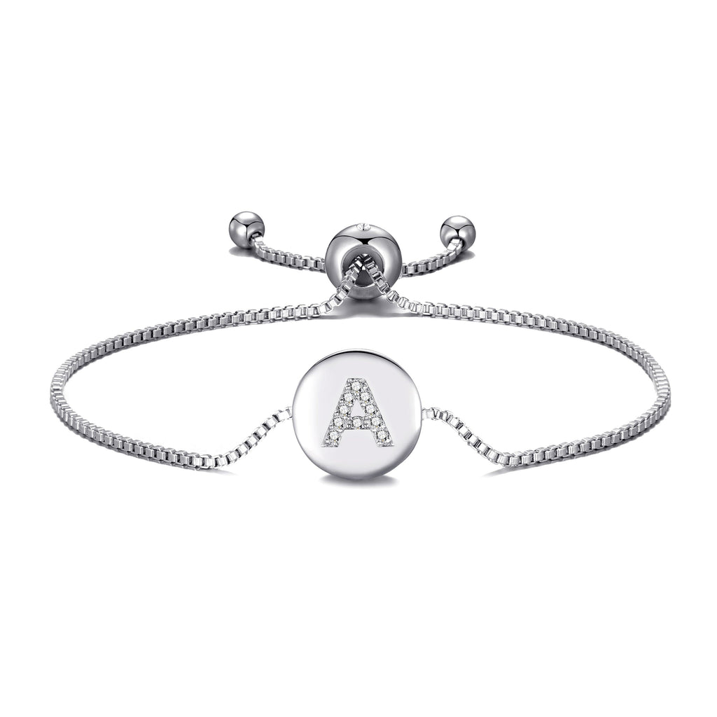 Initial Friendship Bracelet Letter A Created with Swarovski® Crystals