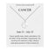 Cancer Starsign Disc Necklace Created with Swarovski Crystals