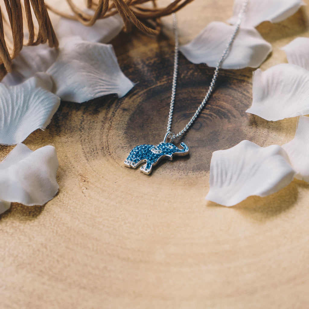 Crystal Elephant Necklace