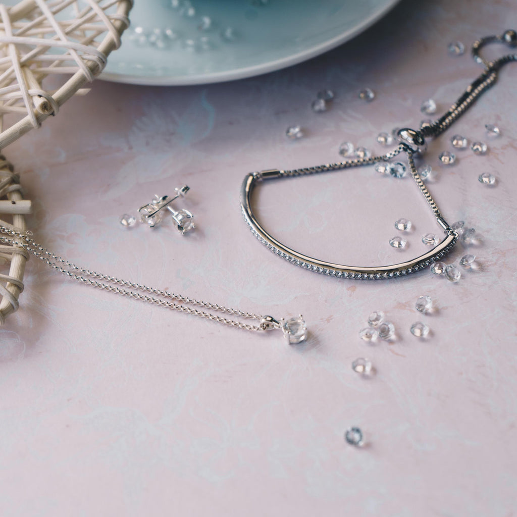 Silver Friendship Set Created with Swarovski® Crystals